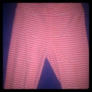 Striped heart LuLaRoe Leggings